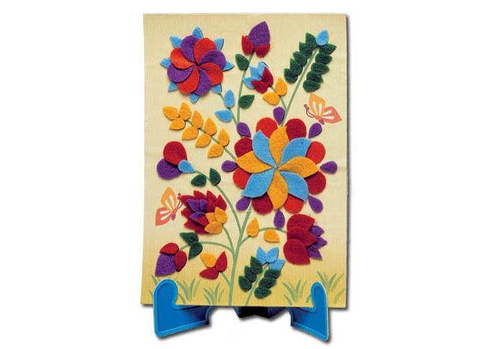 """89. Аппликация из фетра """"Цветы&quot.  Цветочные композиции из фетра такие трогательные и яркие."""