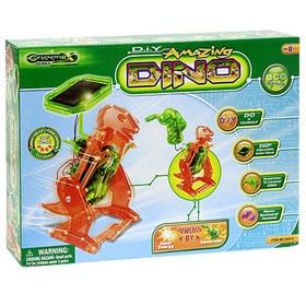 """Научный опыт: Сделай сам  """"Робот-Динозавр """".  Динозавр легко собирается и может двигаться вперед и назад."""